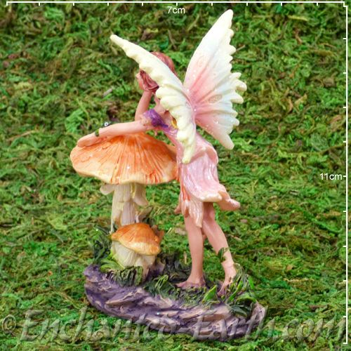Flower Fairy Toadstool Fairy With Frog Pink Dress